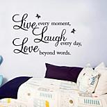 Слова и фразы Наклейки Простые наклейки Декоративные наклейки на стены,PVC материал Съемная Украшение дома Наклейка на стену