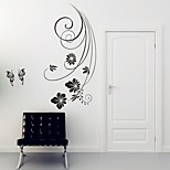 AYA™ DIY Wall Stickers Wall Decals, Butterflies Over Flowers Type PVC Panel Wall Stickers 42*88cm