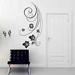 Floral Wall Stickers Autocolantes de Aviões para Parede Autocolantes de Parede Decorativos,PVC Material Removível Decoração para casa