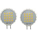 2PCS G8 16LED SMD2835 300-350LM Warm White/White Decorative LED Bi-pin Lights