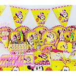 Minnie lujo de la fiesta de cumpleaños del bebé 78pcs decoraciones niños evnent la decoración del partido fuentes del partido 6 personas