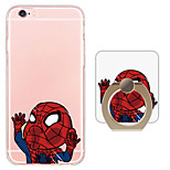 Cartoon Pattern Ring Holder Ultra-thin Translucent Soft TPU Back Cover for iPhone 6s Plus/6 Plus/6s/6/SE/5s/5