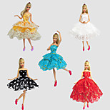 Party & Evening Dresses For Barbie Doll Red / Golden / White / Black / Blue Lace Dresses