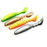 6pcs/Bag Double Color Soft Fishing Lure Soft Plastic Sea Fishing Lures