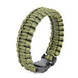 Beadia 1Pc Whistle Life-saving Bracelet Men's ParaCord Bracelet & Wristbands