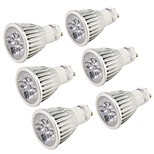 YouOKLight 6PCS GU10 5W 500lm 6000K White Light 5-LED Light Bulb - Silver (85~265V)