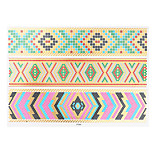 1pc Flash Gold Metallic Temporary Tattoo Woman Colorful Ethnic Strap Bracelet Tattoo Sticker VT344