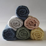 Thickening of Pure Color Short Bamboo Fiber Towel Adult Satin Face Towel