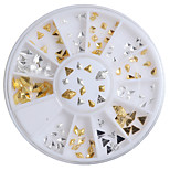 120pcs/Ser The New Small Alloy Gold Silver Punk Style Rivet 6 Styles