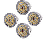 6,5 GU5.3(MR16) Focos LED MR16 48 SMD 2835 600 lm Blanco Cálido Decorativa AC 12 V 4 piezas