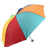 Creative Rainbow Umbrella Portable Seventy Percent Off Silver Plastic Umbrella