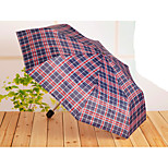 Short Handle Umbrella Portable Folding Umbrella Gift Umbrella Color Mixing