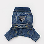 Dog Jeans Blue Winter Jeans Cowboy, Dog Clothes / Dog Clothing