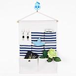 Five Pockets With Pothook Behind The Door Storage Bag Random