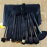 18Pcs Black Animal Hair Makeup Brushes Set
