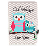 PU Leather Material Owl Embossed  Pattern Tablet Sleeve for iPad mini 4