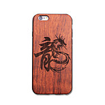 Natural Wood China Dragon Loong Ultra Thin Protective Back Cover iPhone Case for iPhone 6S Plus/6 Plus/6S/6