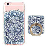 Mandala Pattern Ring Holder Ultra-thin Translucent Soft TPU Back Cover for iPhone 6s Plus/6 Plus/6s/6/SE/5s/5