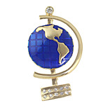 Enamel Plain Globe Shape Brooches