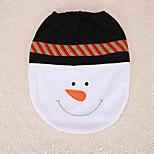 1pc noeud papillon noël de bonhomme de neige siège de toilette couverture décoration maison réceptions cadeau de Noël
