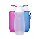 Gift Cup Silicone Collapsible Cup Glass Kettle Outdoor Sports Multi-Function Folding Portable Leak-Proof Cups