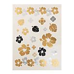 1pc Gold Sliver Flash Metallic Temporary Tattoo Flowers Leaves Woman Tattoo Sticker Paper JM-04
