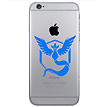 TPU Material Flaming Phenix Pattern Painted Relief Phone Case for iPhone 6s Plus / 6 Plus/6S/6