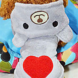 Dog Hoodie Gray / Rose Winter / Spring/Fall Solid / Hearts Casual/Daily Dog Clothes / Dog Clothing-Other