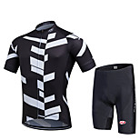 Sports Cycling Jersey with Shorts Men's / Unisex Short Sleeve Bike Breathable / Quick Dry / Front Zipper / Wearable / CompressionJersey +