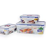 LOCK&LOCK 3/set Kitchen Kitchen Polypropylene Lunch Box 200*120*70mm,135*102*52mm