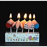 Birthday Party Accessories-1Piece/Set Candle FavorsClassic Theme Heart-shaped Non-personalised Multi Color