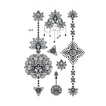 1pc Black Temporary Tattoo Flower Bracelet Woman Body Art Henna Tattoo Sticker Wedding BJ019