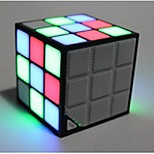 Patented Portable Magic Cube Colorful LED Wireless Bluetooth Speaker with Mic Support TF USB FM Radio Handsfree