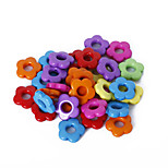 Beadia Assorted Color Acrylic Beads 14mm Flower Plastic Spacer Loose Beads(50g/approx 115pcs)