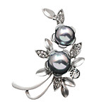 Women's Fashion Rhinestone Gold Silver plated Imitation Pearl Jewelry Brooch Pins Shawl Scarves Scarf Buckle