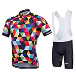 Bike Cycling Tights Padded Shorts Jersey + Bib Shorts Clothing Sets Suits Men's Unisex Short Sleeve Quick Dry