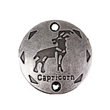 20pcs New Alloy Accessories Twelve Constellation Capricorn Round Accessories