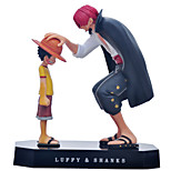 One Piece Akakami no shankusu + Straw Hat Luffy Anime Action Figures Model Toy