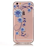 Back Cover Ultra-thin / Embossed / Small Orchid Flower TPU Soft Case Cover For Apple iPhone 6s Plus / 6s / SE/5s/5