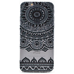 Black Printing Pattern TPU Material Embossment Craft Transparent Case for iPhone 7 7 Plus 6s 6 Plus