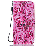 Roses Flower Pattern PU Leather Full Body Case with Stand foriPhone7 6sPlus 6Plus 6S 6