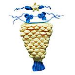 Costumes Mermaid Tail Halloween / Carnival / Oktoberfest Yellow / Blue Vintage Terylene Top / Tail