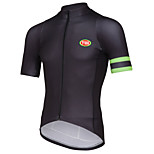 Sports Bike/Cycling Tops Men's Short Sleeve Breathable / Front Zipper / Wearable / Ultra Light Fabric / Soft /