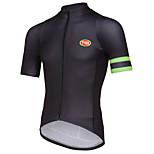 Esportivo Moto/Ciclismo Blusas Homens Manga Curta Respirável / Zíper Frontal / Vestível / Confortável / Tecido Ultra Leve / MacioTerylene