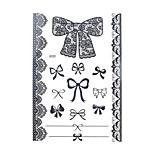 1pc Black Temporary Tattoo Lace Bracelet Bowknot Body Art Henna Tattoo Sticker Wedding BJ020