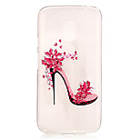 High-heeled shoes Pattern TPU Relief Back Cover Case for Moto G4 Play
