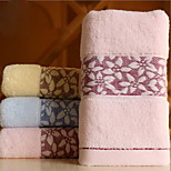 Jacquard Forging Six Petals Wide Cotton Twistless Yarn Towel