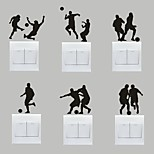 AYA™ Set of 6 DIY Creative Football Switch Stickers Wall Decor