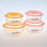 yooyee ensaladera de marca al por mayor, ensaladera con tapa de plástico transparente ensaladera