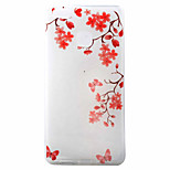 Red Flower Pattern Material TPU Phone Case for Huawei P9 P8 Lite P9 Lite